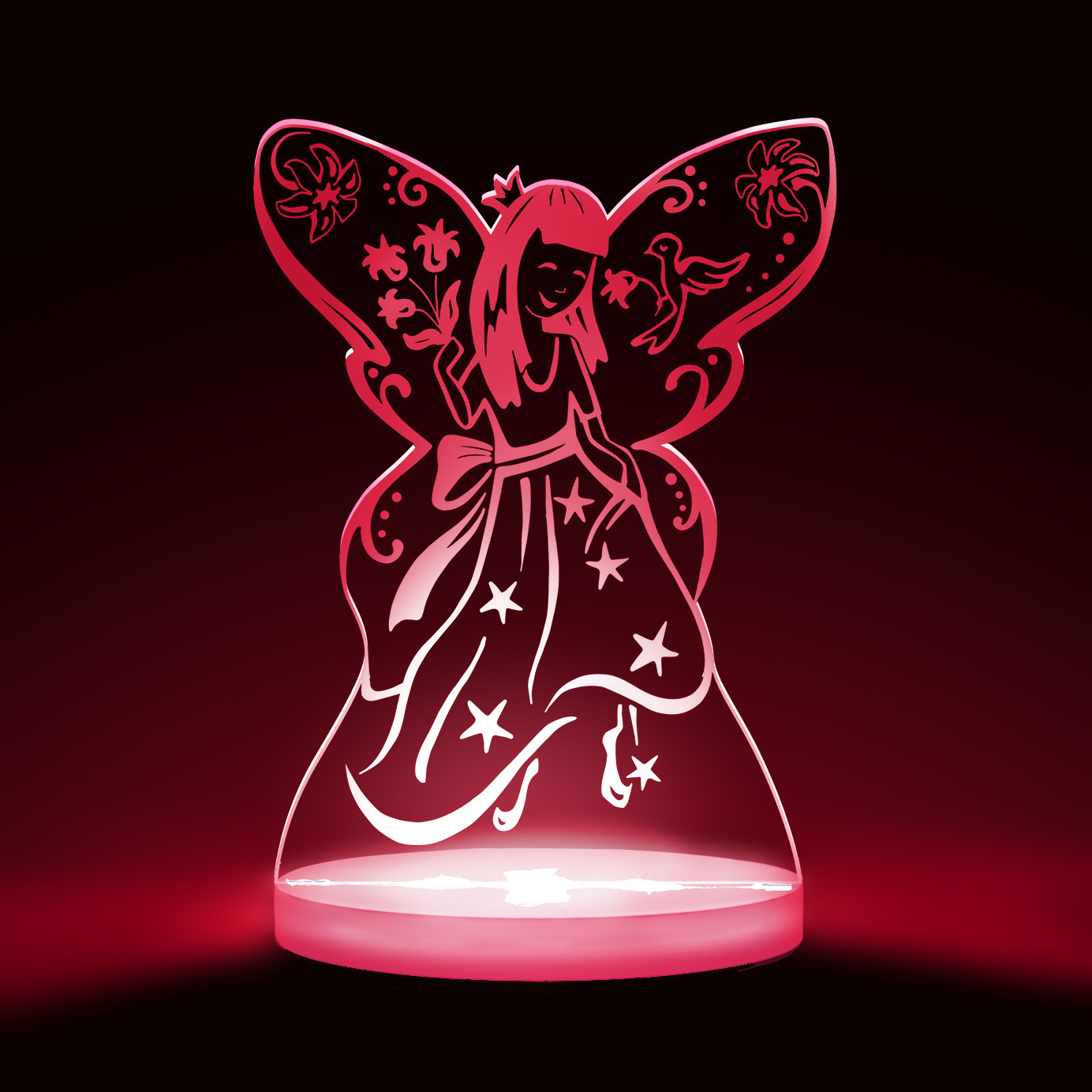 Fairy Princess Multicolored LED Night Light)